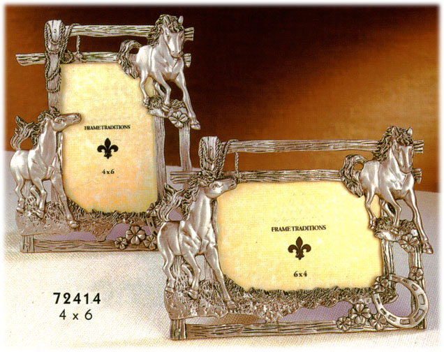horse Pewter Picture Frames