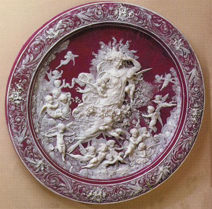 Wd 05154 Goddess Of The Sun Incolay Wall Decor Plates