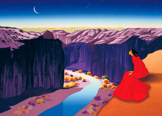 Rc Gorman Moon River Limited Edition Lithographs