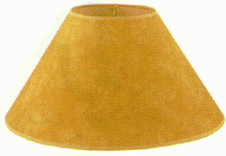900 017 Natural Parchment With Leather Trim Lamp Shades