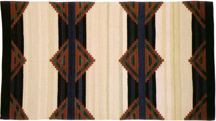Southwestern Clear Light Artistic Rug Designs Navajo Chief